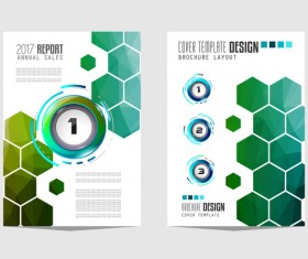 Business flyer brochure cover template vector 17