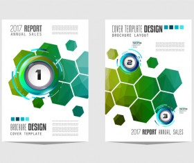 Business flyer brochure cover template vector 18