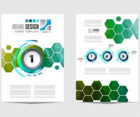 Business flyer brochure cover template vector 19