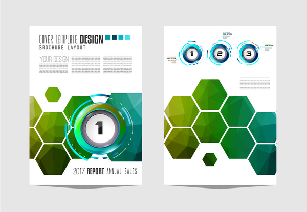 Business flyer brochure cover template vector 20