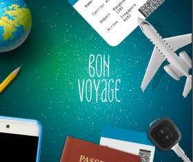 Business travel design template vector