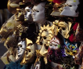 Carnival costumes and masks Stock Photo 03