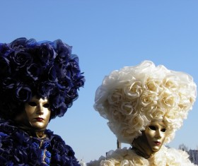 Carnival costumes and masks Stock Photo 06