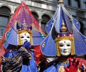 Carnival costumes and masks Stock Photo 08