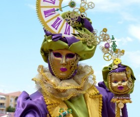 Carnival costumes and masks Stock Photo 26