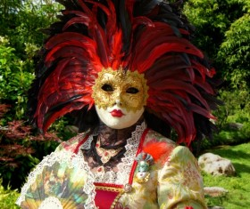 Carnival costumes and masks Stock Photo 37