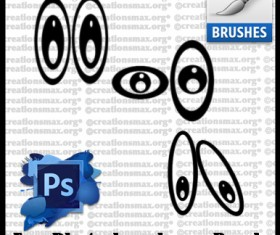 Cartoon Eye Photoshop Brushes