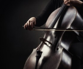 Cello woman Stock Photo