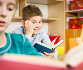 Childrens learning Stock Photo
