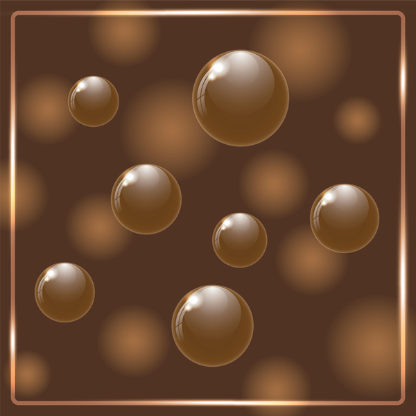 Chocolate ball with frame vector