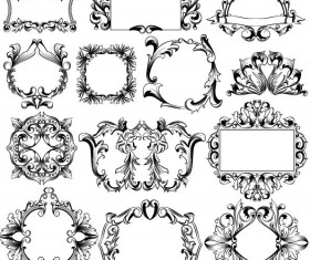 Classical ornaments frame vector set