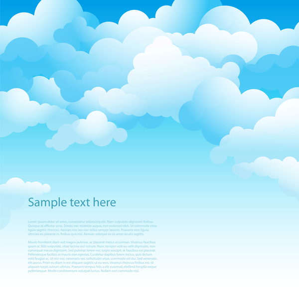 Clouds with sky for you text background vector