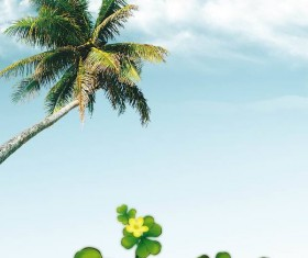 Coconut tree background Stock Photo