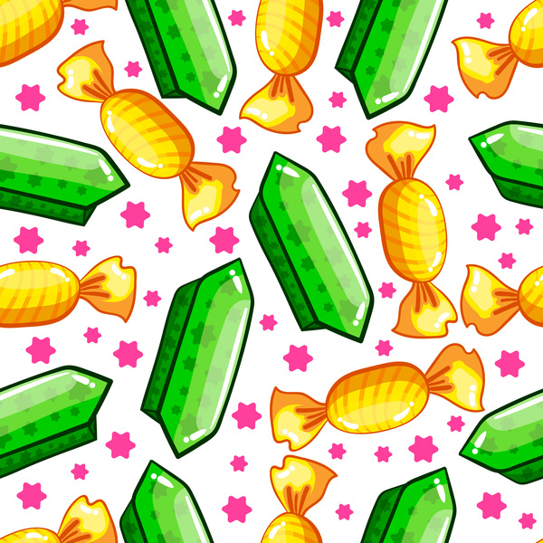 Colored candy seamless pattern vector 02