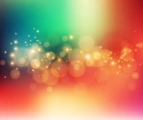 Colorful bokeh background art vector 01