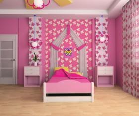 Creative childrens room decoration Stock Photo 02
