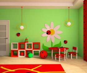 Creative childrens room decoration Stock Photo 06