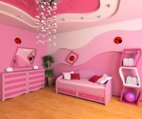 Creative childrens room decoration Stock Photo 09