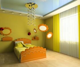 Creative childrens room decoration Stock Photo 13