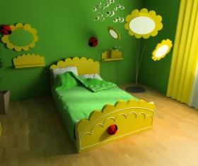 Creative childrens room decoration Stock Photo 14