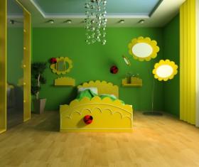 Creative childrens room decoration Stock Photo 15