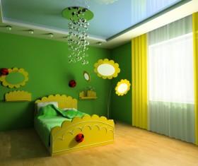 Creative childrens room decoration Stock Photo 16