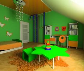Creative childrens room decoration Stock Photo 17