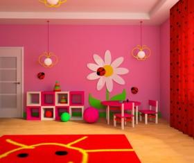 Creative childrens room decoration Stock Photo 18