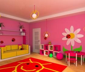 Creative childrens room decoration Stock Photo 19