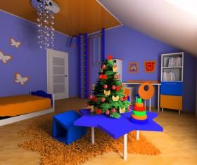 Creative childrens room decoration Stock Photo 20