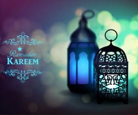 Creative ramadan jareem dark color background vector 15
