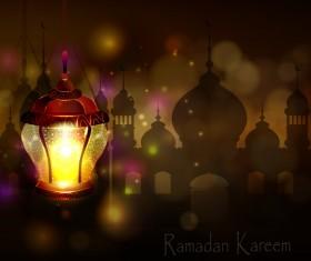 Creative ramadan jareem dark color background vector 17