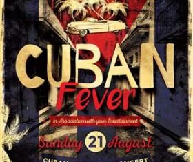Cuban Fever Flyer PSD Template