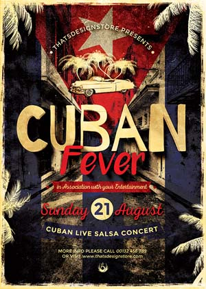 Cuban Fever Flyer PSD Template