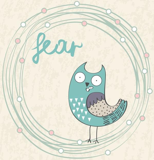 Cute cartoon owls vector material 04