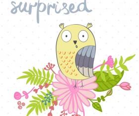 Cute cartoon owls vector material 10