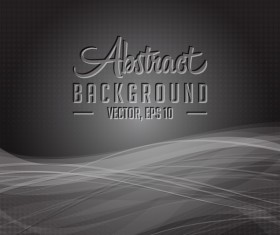 Dark wavy abstract background vector