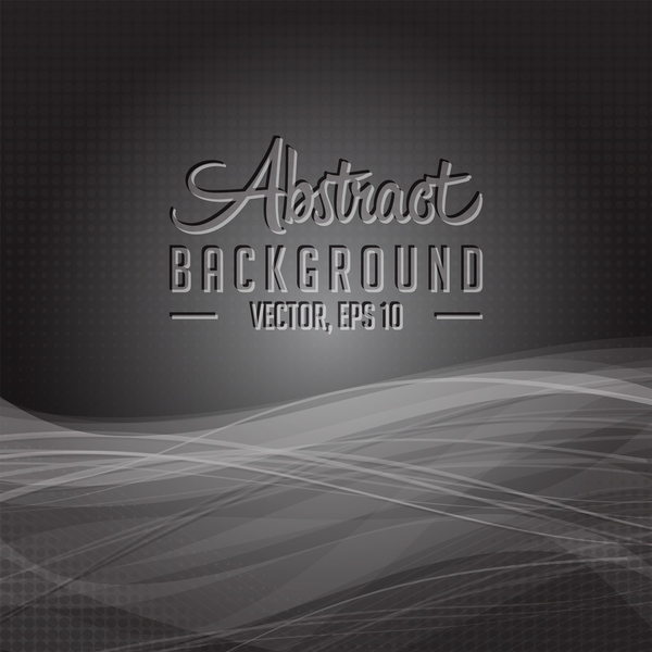 Dark wavy abstract background vector