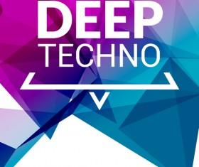 Deep tech party poster template vectors