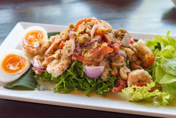 Delicious mixed salad Stock Photo