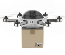 Delivery drones flying Stock Photo 03