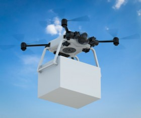 Delivery drones flying Stock Photo 05