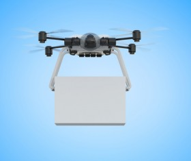 Delivery drones flying Stock Photo 06