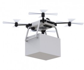Delivery drones flying Stock Photo 07