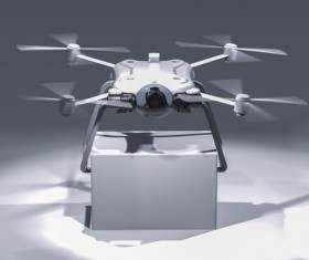 Delivery drones flying Stock Photo 08
