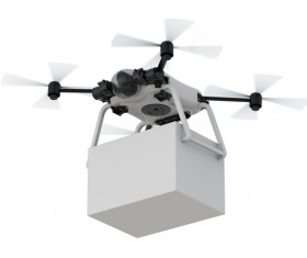 Delivery drones flying Stock Photo 10
