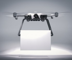 Delivery drones flying Stock Photo 11