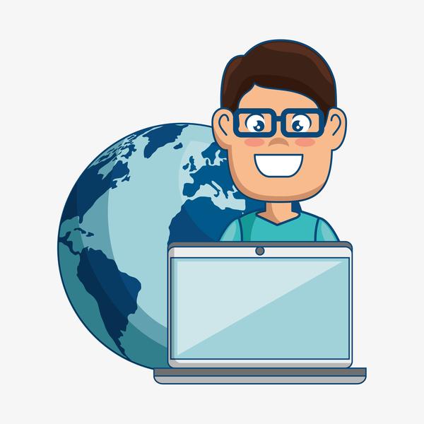 Digital marketing flat business template vector 03