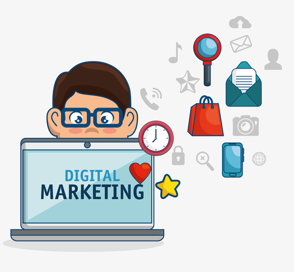 Digital marketing flat business template vector 08