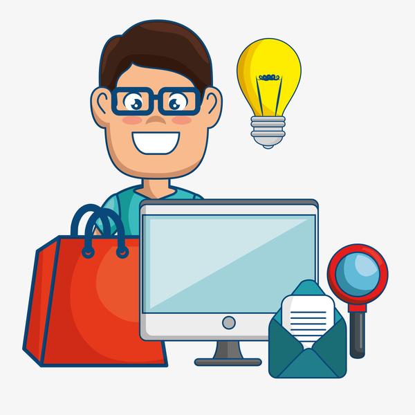 Digital marketing flat business template vector 09